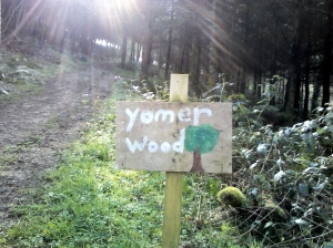 Yomer Wood Camping sign