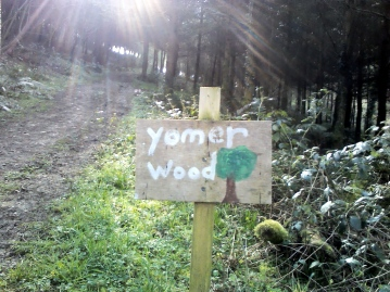 Yomer Wood Camping sign