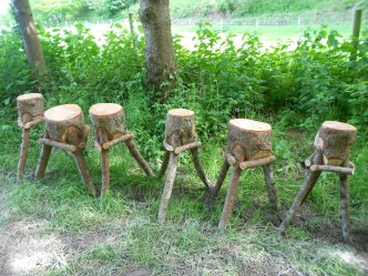 Kindling chopping blocks - on the march