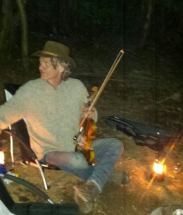 Campfire fiddling