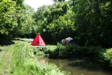 Camping by the pond